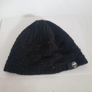Arbor black knit skateboard beanie